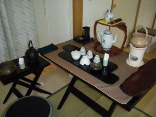 tea cha 日本茶 煎茶 椅子席 立礼 テーブル茶道
